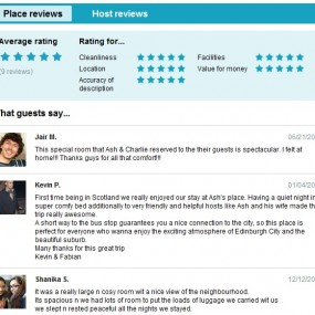 Great reviews for Ash from Edinburgh