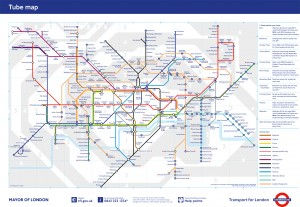 tube map for tourists