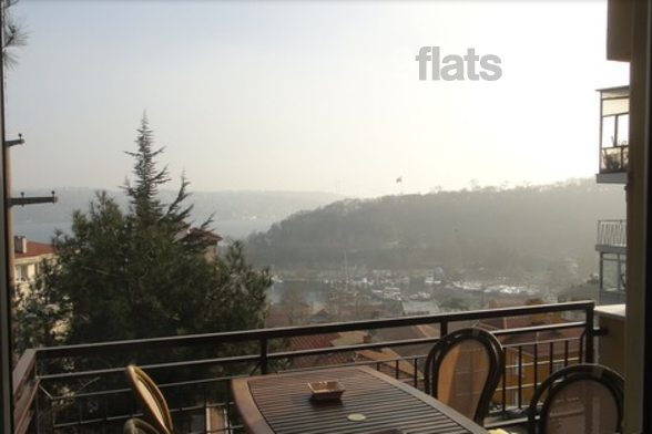 Enjoy a spectacular view of the Bosphorus from this cosy apartment's terrace