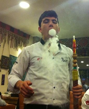 Our friendly nargile waiter