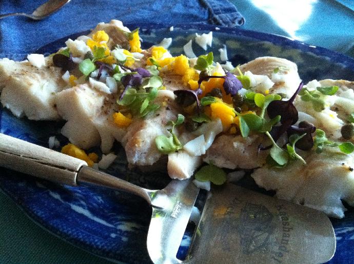 Cod dinner, Norway