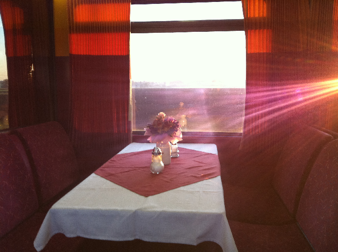 Romantic train to Budapest